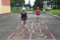 около детского сада